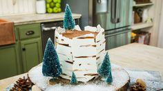 Festive DIY Winter Wonderland Cake made by Maria Provenzano! Don't miss Home & Family weekdays at on Hallmark Channel Winter Wonderland Cake, Delicious Desserts, Dessert Recipes, Chocolate Sticks, Chocolate Buttercream Frosting, Coconut Whipped Cream, Chocolate Lovers, Cute Cakes, How To Make Cake