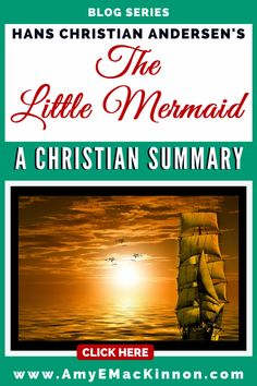 There is a difference between Andersen's original story and the Disney adaptation. In this blog post I walk you through the original story to show you how Hans Christian Andersen used Christianity to tell his story #faithreasonandfiction #fairy tales #Disney #Ariel #Hans Christian Andersen