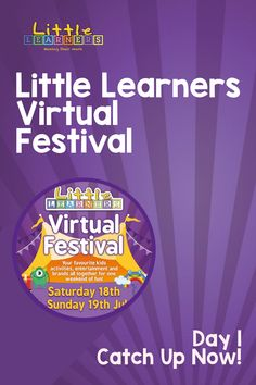 💜 Little Learners Virtual Festival - DAY 1 💜  A weekend filled with everyones favourite activity providers. Catch up on the action from Day 1 Here! Little Learners, Learning Through Play, Activities For Kids, Entertaining, Day, Action, Group Action, Kid Activities, Hilarious
