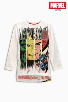 Buy Ecru Marvel Long Sleeve Top (3-16yrs) from the Next UK online shop