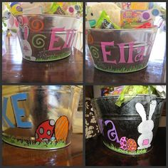 DIY Easter Buckets-need to do this. I've never found one I have liked for e... Love this idea!