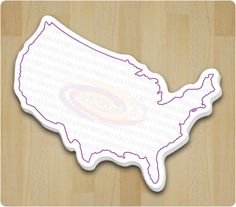 3 x 4 Custom USA Shape Sticky Notes Full Color - Custom Shape Sticky Pads - Custom Shaped Pads Custom Sticky Notes, Usa Customs, Sticky Pads, Outdoor Blanket, Shapes, Color, Colour, Colors