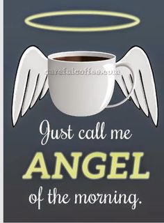 Coffee Humor | Created by Careful Coffee via Samia Elsaid on the Funny Technology - Community Google+  #coffee #angel #coffee_funny
