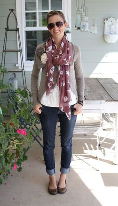 cropped jeans and flats