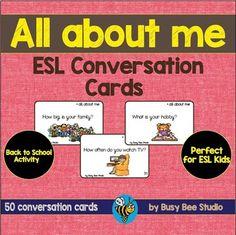 All About Me - 50 ESL Conversation Cards