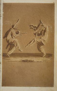 """Illustration zur """"Prinzessin Brambilla"""", Breslau 1821. Aquatinta-Radierung von Carl Friedrich Thiele nach Vorlage J. Callots (Sel.235-"""