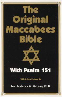 Original Maccabees Bible-OE: With Psalm 151: Amazon.co.uk: Roderick Michae McLean: 9780948390463: Books