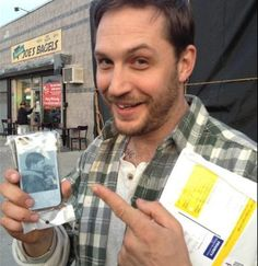 Because of that tooth! :) Tom got a gift from a fan.