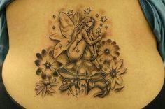 Fairy Tattoos with Stars | Fairy and Stars Tattoos Design