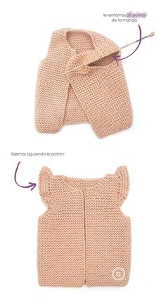 Knitted Girly Vest – Baby Knitting Pattern & Tutorial -Baby Vest , Knitted Girly Vest – Baby Knitting Pattern & Tutorial Knitted Girly Vest for baby KNITTING. Knitting For Kids, Baby Knitting Patterns, Free Knitting, Knitting Designs, Knitting Projects, Crochet Projects, Baby Pullover, Baby Cardigan, Diy Tricot Gilet
