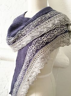 Ravelry: Sand Ripples Shawl pattern by Stephannie Tallent