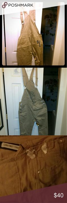 Khaki Skinny Legged Overalls Plus Size 2X These are plus size khaki overalls. They are plus size 2x with 5 pockets. Never worn! Open to offers! Have similar tastes? Trades are welcome! Pants Jumpsuits & Rompers