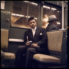 An exhibition by Danny Lyon of color photos he took in the NYC subway is being staged by the MTA. The photos have never been publi