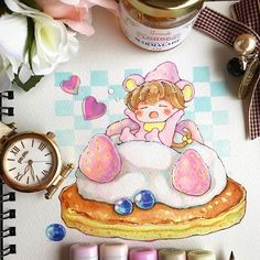 "What's for breakfast? #パンケーキ  ▫️▫️▫️▫️▫️▫️▫️▫️ This is my new oc fulu-yun / フルユン (""furu-yun"")  When he naps on top of a pancake he cosplays as a 淡雪 strawberry so he won't be noticed by humans ▫️▫️▫️▫️▫️▫️▫️▫️ ""yun"" (""ユン""): A tiny species with a bit of a tummy  ""fulu"" or ""フル"": a noise that yuns make when they are sleeping #fuluyun物語 #anzy_oc . . . ▪️▪️▪️▪️▪️▪️▪️▪️▪️ #strawberries #kawaii #chibi #kawaiidesu #mangadrawing #anime #nezumi #cutedrawing #illustration #artistsoninstagram ..."