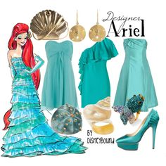 """""""Ariel"""" by lalakay on Polyvore. Once again, love the dress (the first one)"""