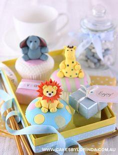 Cute Colorful Animal Kingdom Cupcakes