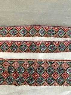 Broderier til skjorte, beltestakk. #beltestakk#telemark#korssting Folk Costume, Cross Stitch Patterns, Embroidery, Accessories, Beautiful, Art, Fashion, Craft Art, Moda