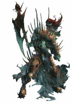 Undead Champion & Friend  - Pathfinder PFRPG DND D&D d20 fantasy