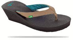 Sanuk Lady's Yoga Mat Wedge Sandals