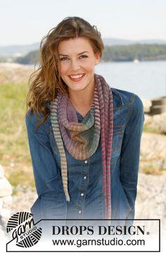 Quer gestrickter Schal