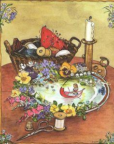 Thumbelina, from the Tasha Tudor Book of Fairy Tales