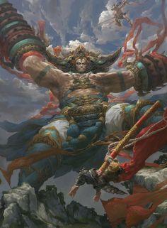 ArtStation - Heavenly Kings wrath , Eart CG