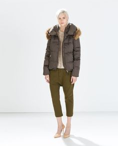 Image 1 of DOWN JACKET WITH FUR COLLAR from Zara c0d1aada6ad0