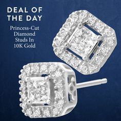 Because everyone needs a classic pair of diamond studs! 79% off 1/4 ct Diamond Stud Earrings in 10K White Gold. $149 plus free shipping.