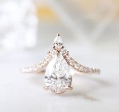 Skylar Pear Shaped Engagement Ring