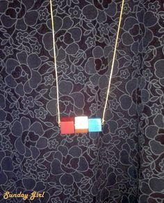 winter cplor cube necklace