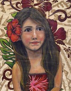 """Little Miss Moana"" Fine Art Print"