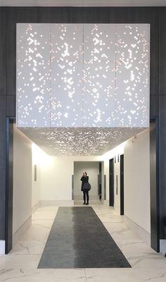 Vapor® ceiling system achieves modern expression through abstract pattern. Vapor® ceiling system achieves modern expression through abstract pattern. Its subtle complexity l