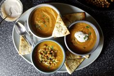 carrot soup with tahini and crisped chickpeas – smitten kitchen