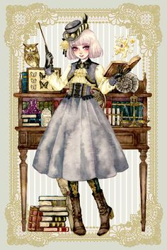 イラストレーター・sakizoさんと作った 魔法学校ワンピース リボンタイセット│スキヤキ│フェリシモ