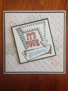 Stampin up marquee messages, gorgeous grunge card
