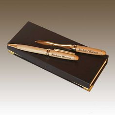 Designu0027s Maplewood Personalized Pen and Letter Opener Set with Font Selection and Personalization Options (Presentation & 17 Best Office u0026 Professional Gift Ideas images | Professional gifts ...