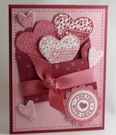 #Valentine's #Card by Stamp Addict 77 - Cards and Paper Crafts at Splitcoaststampers