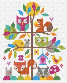 Forest Fun cross stitch kit from www.thestitchingshed.co.uk