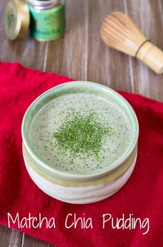 Matcha Chia Pudding | One Ingredient Chef