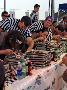 What a great weekend at the The New Orleans Oyster Festival! Check out this great photo of Thomas Morstead judging an oyster eating competition, courtesy of the New Orleans Saints.