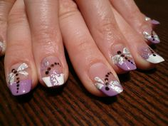 Dragonfly French Manicure Nail Art But With Teal Black Toe Polish Designs - NailInCloud Dragonfly Nail Art, Butterfly Nail, French Manicure Nails, French Tip Nails, Purple Nail Designs, Toe Nail Designs, Purple Nails, Gold Nails, Best Toe Nail Color