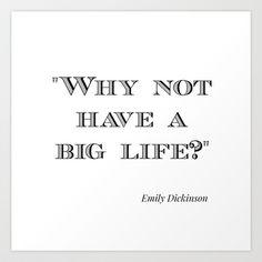Emily+Dickinson+Art+Print+by+Big+Girl+Life+-+$16.64