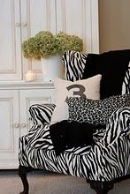 Cottage Chic Family Room - traditional - family room - detroit - The Yellow Cape Cod Zebra Chair, Basement Bedrooms, Furniture Upholstery, Upholstery Repair, Upholstery Tacks, Upholstery Cleaner, Sunroom Furniture, Accent Furniture, White Rooms