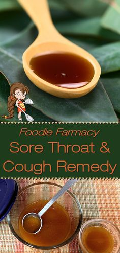 When you're suffering with a sore throat take this natural home remedy by Foodie Home Chef. It will soothe your sore throat & alleviate your cough. Best of all... it has no side effects that happen when taking over the counter or prescription medications! Natural Sore Throat Remedies | Sore Throat Remedy | Cough Remedy | Natural Cough Remedy | Cough Syrup | Natural Cough Syrup | Home Remedies | Natural Remedies | Cold Remedies | Farmacy | Foodie Farmacy | #foodiehomechef @foodiehomechef Easy Healthy Recipes, Real Food Recipes, Healthy Foods, Chef Recipes, Natural Cough Remedies, Cold Remedies, Sore Throat And Cough, Cough Syrup, Home Chef