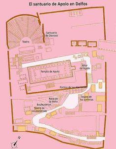 Partes del santuario de Delphos 3.-Edificios:Partes y funciones