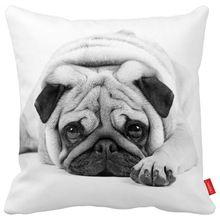 cute pug dog pet black and white Print Custom Home Decorative Throw pillow case almofadas decorate car cushion cover(China (Mainland))