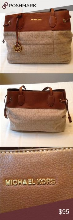 MICHAEL KORS HANDBAG MICHAEL KORS Handbag. Gently used. LIKE NEW!!!! Exterior has one snap pocket with top snap closure. Interior has one zipper pocket with four slip pockets Bags Totes