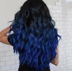 Balckb& Blue ombré hair