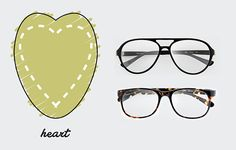 Heart Shaped Face / The only Face Shape Guide you need to find the perfect pair of glasses for you http://milk-eyewear.tumblr.com/post/130147874082/to-know-face-shape-guide-find-your-finest