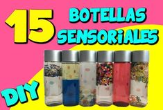 15BOTELLASSENSORIALES_WEB Voss Bottle, Water Bottle, Sensory Boxes, Grammar Worksheets, Diy Toys, Diy Crafts, Creative, Lucca, Baby Things